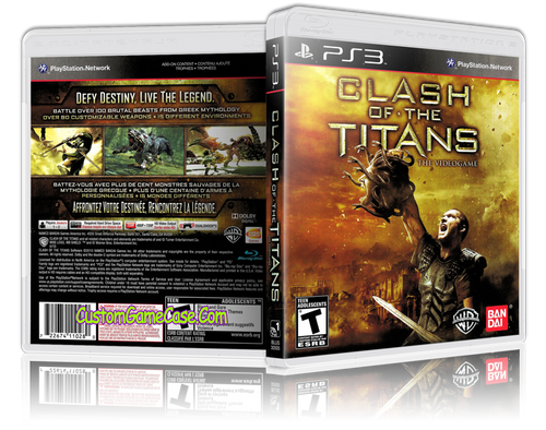 Clash of the Titans - Sony PlayStation 3 PS3 - Empty Custom Replacement Case