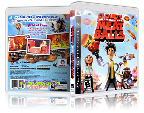 Cloudy with a chance of Meatballs - Sony PlayStation 3 PS3 - Empty Custom Replacement Case