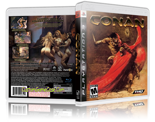 Conan - Sony PlayStation 3 PS3 - Empty Custom Replacement Case