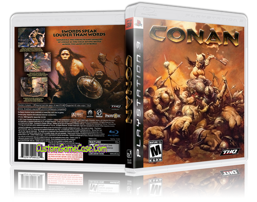 Conan (V2) - Sony PlayStation 3 PS3 - Empty Custom Replacement Case