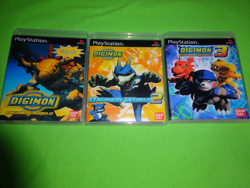 Digimon World Trilogy Collection Sony PlayStation 1 PSX PS1 - Empty Custom Cases