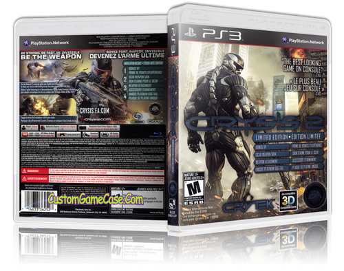Crysis 2 Limited Edition - Sony PlayStation 3 PS3 - Empty Custom Replacement Case