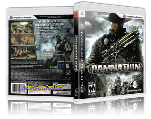 Damnation - Sony PlayStation 3 PS3 - Empty Custom Replacement Case