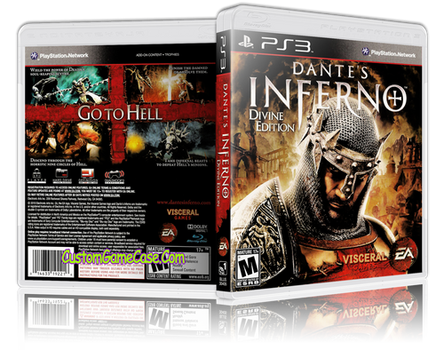 Dantes Inferno (V2) - Sony PlayStation 3 PS3 - Empty Custom Replacement Case