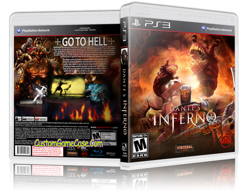 Dantes Inferno - Sony PlayStation 3 PS3 - Empty Custom Replacement Case