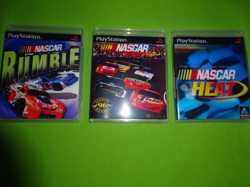 Nascar Racing Trilogy Collection Heat Rumble Sony PlayStation 1 PSX PS1 - Empty Custom Cases