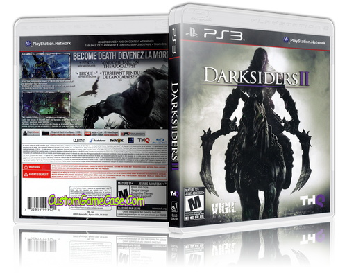 Darksiders 2 - Sony PlayStation 3 PS3 - Empty Custom Replacement Case