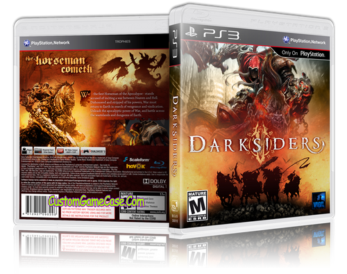 Darksiders (V2) - Sony PlayStation 3 PS3 - Empty Custom Replacement Case