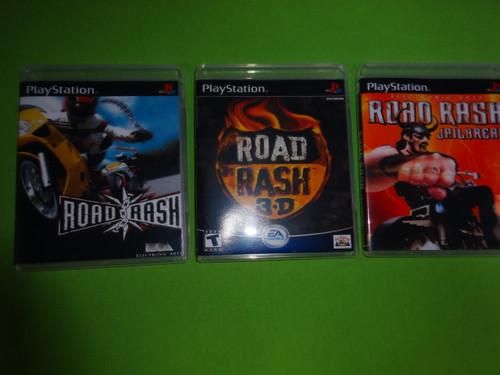 Road Rash Trilogy Collection 3D JailBreak Sony PlayStation 1 PSX PS1 - Empty Custom Cases