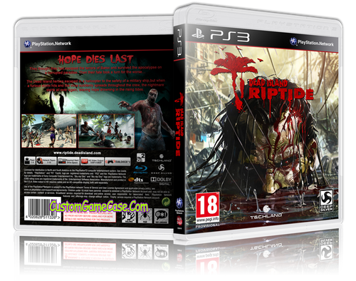 Dead Island Riptide - Sony PlayStation 3 PS3 - Empty Custom Replacement Case
