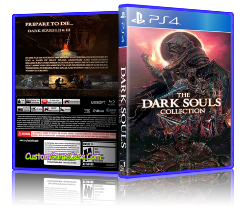 Dark Souls Collection (Custom) - Sony PlayStation 4 PS4 - Empty Custom Replacement Case