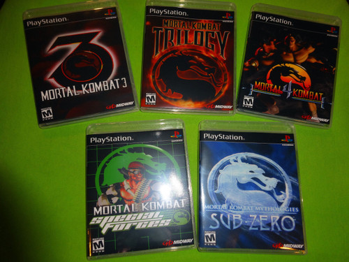 Mortal Kombat Collection Special Forces 3 4 Sony PlayStation 1 PSX PS1 - Empty Custom Cases