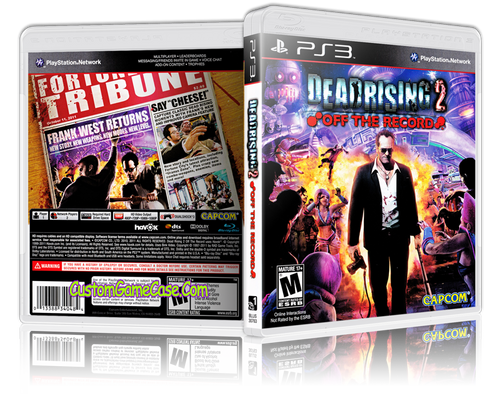 Deadrising 2 Off the Record - Sony PlayStation 3 PS3 - Empty Custom Replacement Case