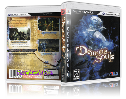 Demon Souls - Sony PlayStation 3 PS3 - Empty Custom Replacement Case