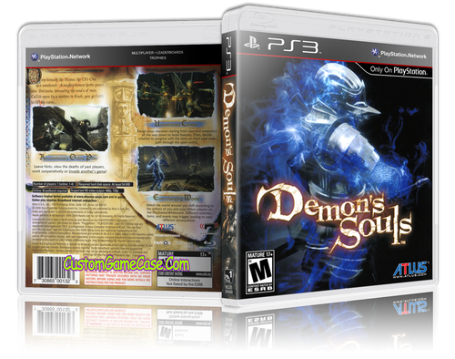 Demon Souls (V2) - Sony PlayStation 3 PS3 - Empty Custom Replacement Case