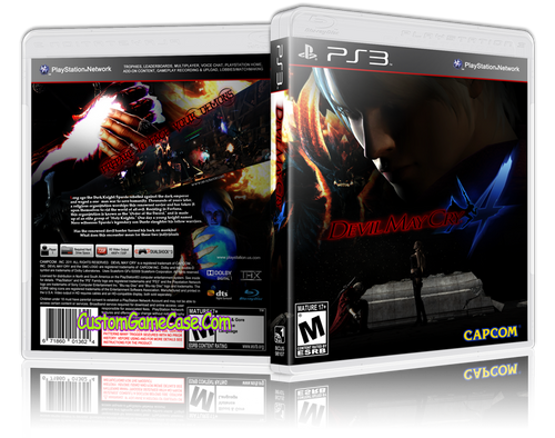Devil May Cry 4 (V2) - Sony PlayStation 3 PS3 - Empty Custom Replacement Case