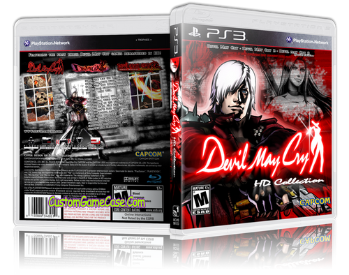 Devil May Cry HD Collection (Custom) - Sony PlayStation 3 PS3 - Empty Custom Replacement Case
