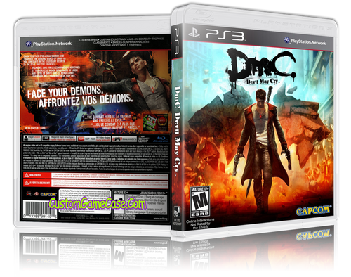 Devil May Cry - Sony PlayStation 3 PS3 - Empty Custom Replacement Case
