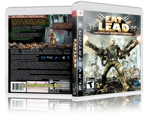 Eat Lead The Return of Matt Hazard- Sony PlayStation 3 PS3 - Empty Custom Replacement Case