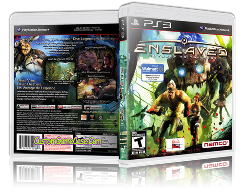 Enslaved Odyssey to the West - Sony PlayStation 3 PS3 - Empty Custom Replacement Case