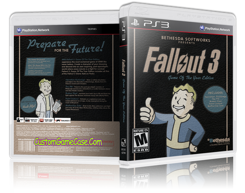 Fallout 3 Game of the Year Edition - Sony PlayStation 3 PS3 - Empty Custom Replacement Case