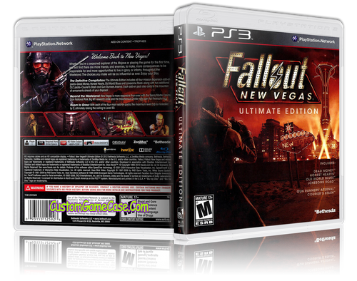 Fallout New Vegas Ultimate Edition - Sony PlayStation 3 PS3 - Empty Custom Replacement Case