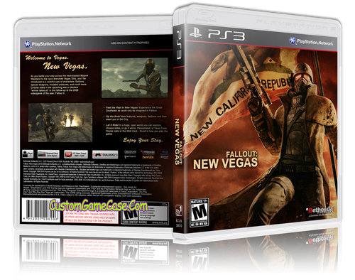 Fallout New Vegas (V2) - Sony PlayStation 3 PS3 - Empty Custom Replacement Case