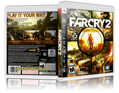 Farcry 2 - Sony PlayStation 3 PS3 - Empty Custom Replacement Case