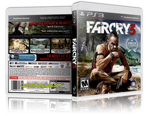 Farcry 3 - Sony PlayStation 3 PS3 - Empty Custom Replacement Case