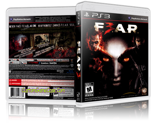 Fear 3 - Sony PlayStation 3 PS3 - Empty Custom Replacement Case