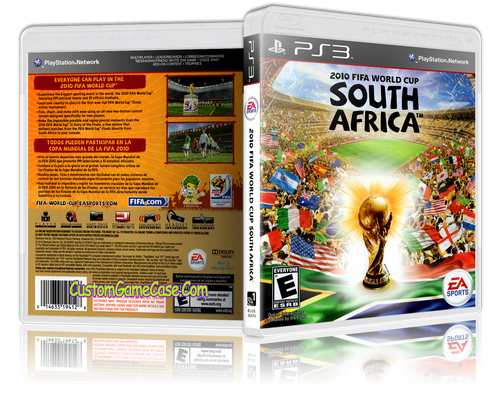 2010 Fifa World Cup South Africa - Sony PlayStation 3 PS3 - Empty Custom Replacement Case