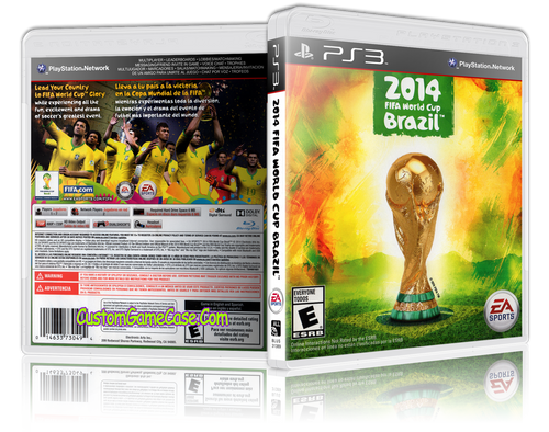 2014 Fifa World Cup Brazil - Sony PlayStation 3 PS3 - Empty Custom Replacement Case