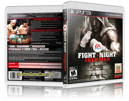 Fight Night Champion - Sony PlayStation 3 PS3 - Empty Custom Replacement Case