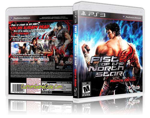 Fist of the North Star Kens Rage - Sony PlayStation 3 PS3 - Empty Custom Replacement Case
