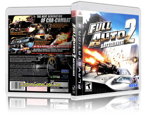 Full Auto Battlelines 2 - Sony PlayStation 3 PS3 - Empty Custom Replacement Case