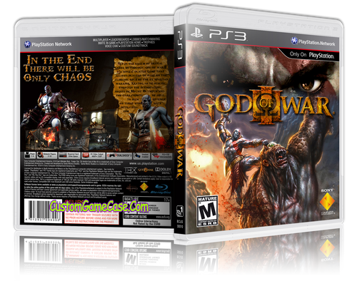 God of War 3 (V2) - Sony PlayStation 3 PS3 - Empty Custom Replacement Case