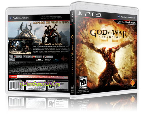 God of War Ascension - Sony PlayStation 3 PS3 - Empty Custom Replacement Case