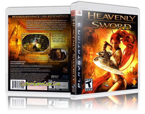 Heavenly Sword - Sony PlayStation 3 PS3 - Empty Custom Replacement Case