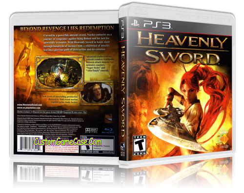 Heavenly Sword (New) - Sony PlayStation 3 PS3 - Empty Custom Replacement Case