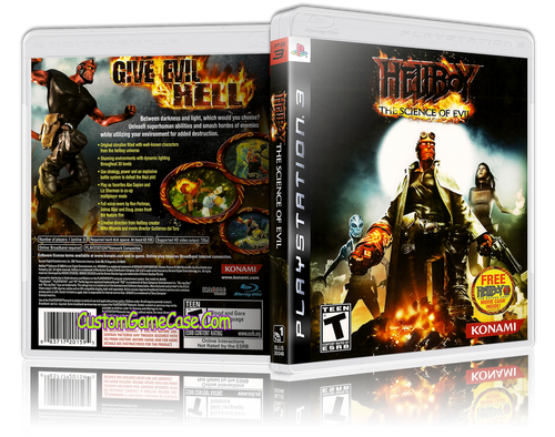 Hellboy The Science of Evil - Sony PlayStation 3 PS3 - Empty Custom Replacement Case