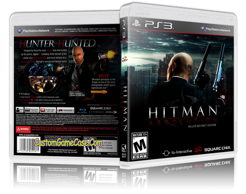 Hitman Absolution Killer Instinct Edition - Sony PlayStation 3 PS3 - Empty Custom Replacement Case