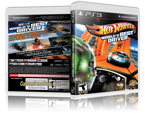 Hot Wheels World's Best Driver - Sony PlayStation 3 PS3 - Empty Custom Replacement Case