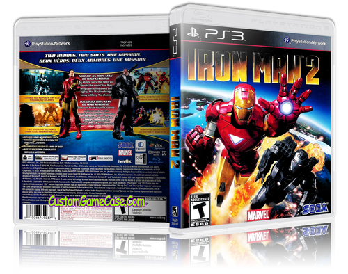 Iron Man 2 - Sony PlayStation 3 PS3 - Empty Custom Replacement Case
