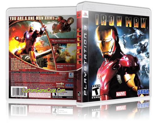 Iron Man - Sony PlayStation 3 PS3 - Empty Custom Replacement Case
