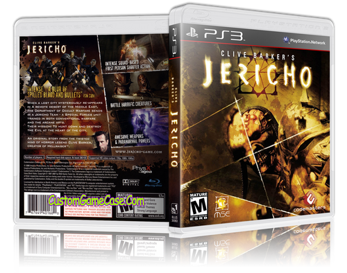 Clive Barker's Jericho - Sony PlayStation 3 PS3 - Empty Custom Replacement Case