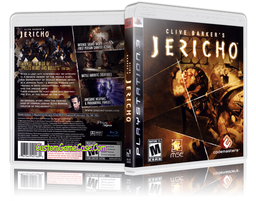 Clive Barker's Jericho (New) - Sony PlayStation 3 PS3 - Empty Custom Replacement Case