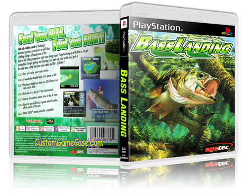 Bass Landings - Sony PlayStation 1 PSX PS1 - Empty Custom Case