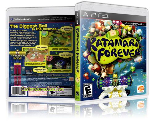 Katamari Forever (New) - Sony PlayStation 3 PS3 - Empty Custom Replacement Case