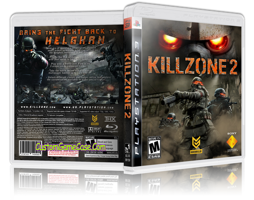 Killzone 2 - Sony PlayStation 3 PS3 - Empty Custom Replacement Case