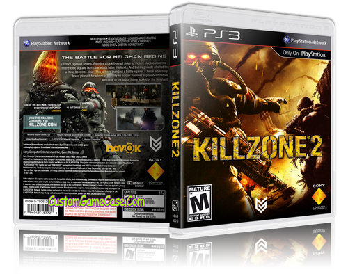 Killzone 2 (V2) - Sony PlayStation 3 PS3 - Empty Custom Replacement Case